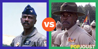 Which was the better Louis Gossett Jr role in an 80s movie