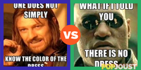 Which is the better color of the dress meme
